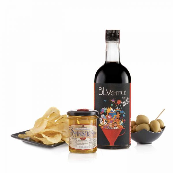 pack BL vermut aceitunas queso y patatas
